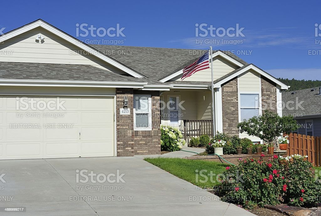 Middle Class American Home royalty-free stock photo