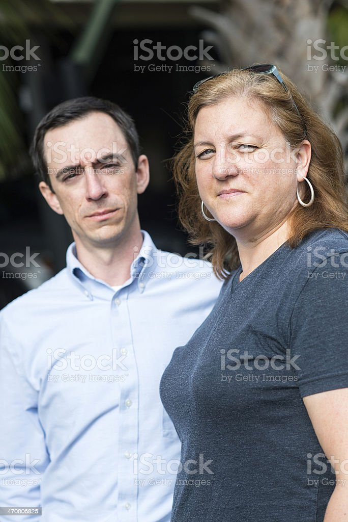 Middle Class Couple (real people) royalty-free stock photo