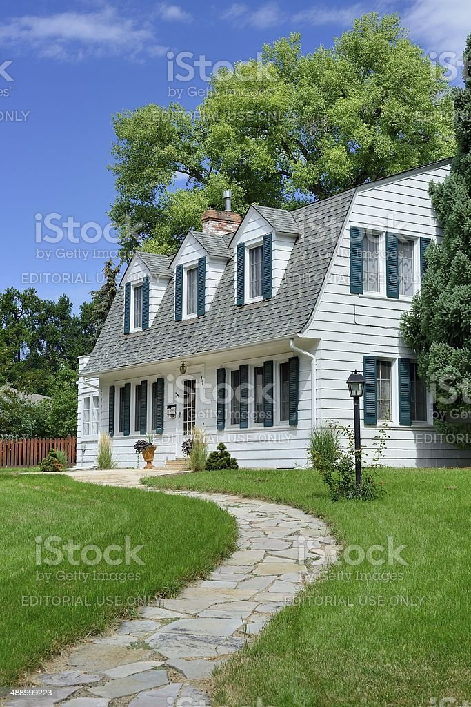 Middle Class House, USA royalty-free stock photo