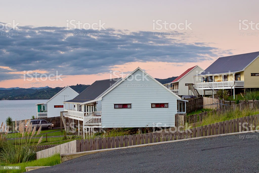Middle Class Kiwi Homes stock photo