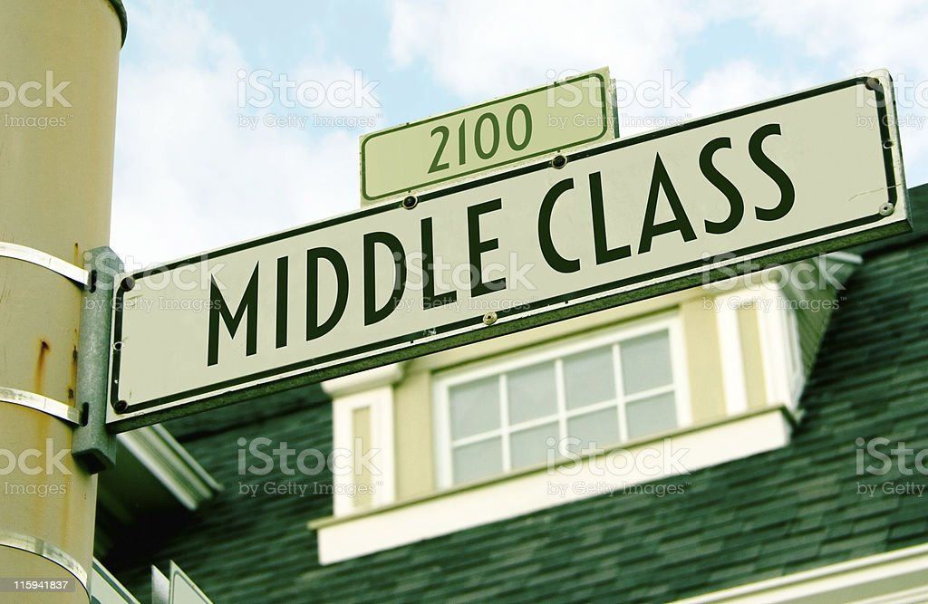 Middle Class royalty-free stock photo