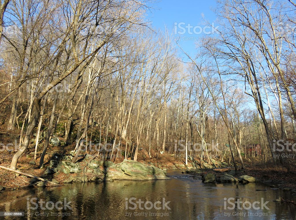 Middle Creek in December stock photo