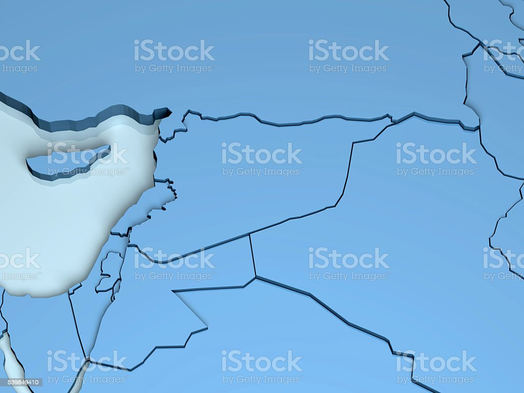 Middle East 3D stock photo