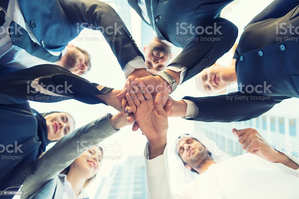 Middle East business team stock photo