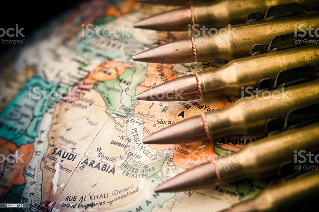 Middle East Conflict stock photo