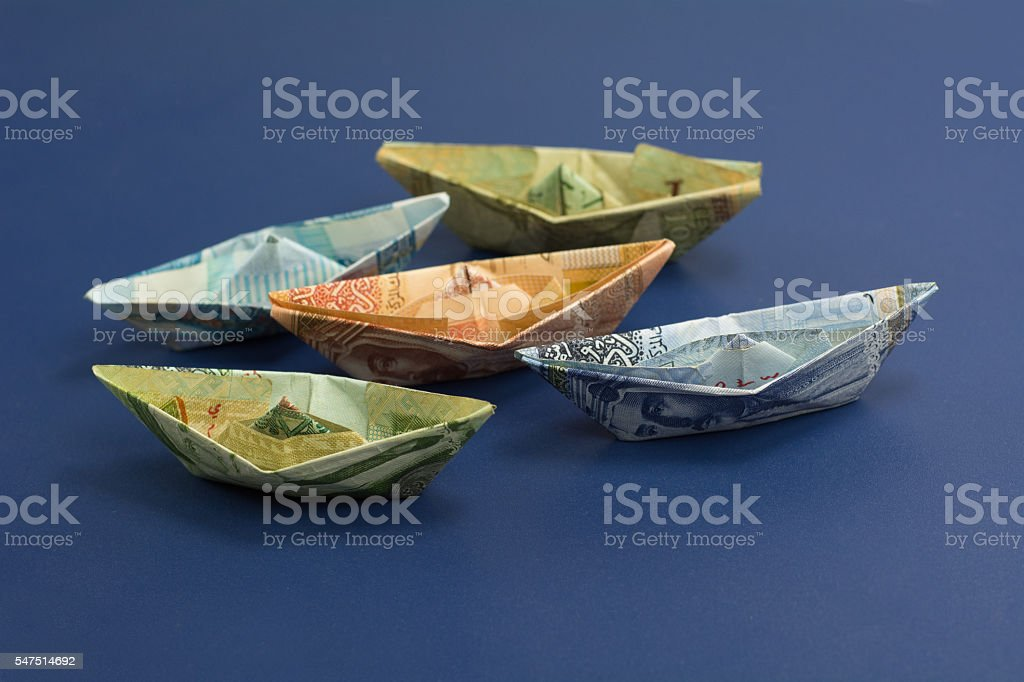 Middle east currency stock photo