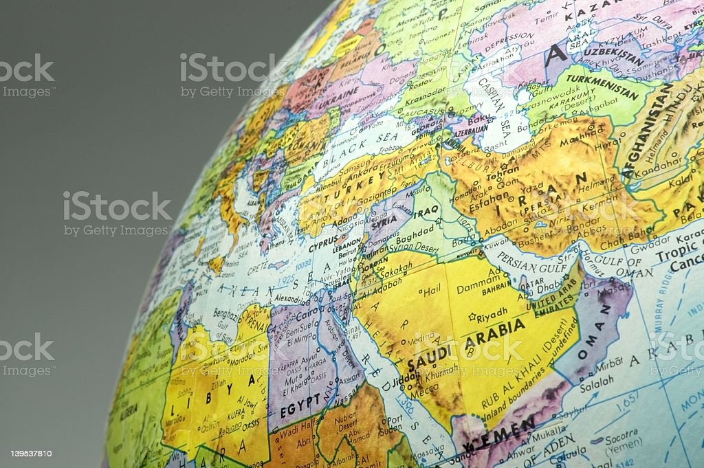 Middle East Map royalty-free stock photo