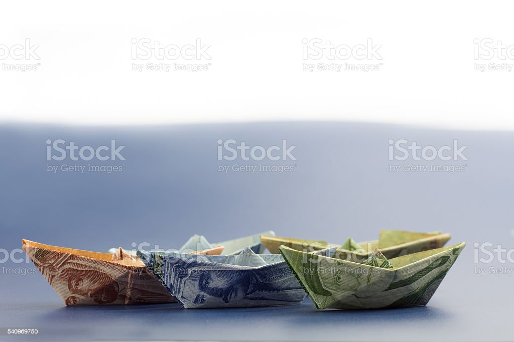 Middle east money notes stock photo