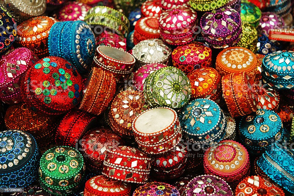 Middle East Style Trinket Box royalty-free stock photo
