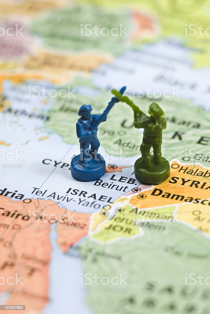 Middle East tension, World Conflicts Theme (Israel) royalty-free stock photo