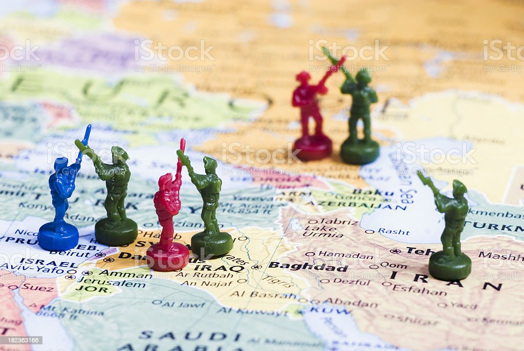 Middle East tensions, World Conflicts Theme - I royalty-free stock photo