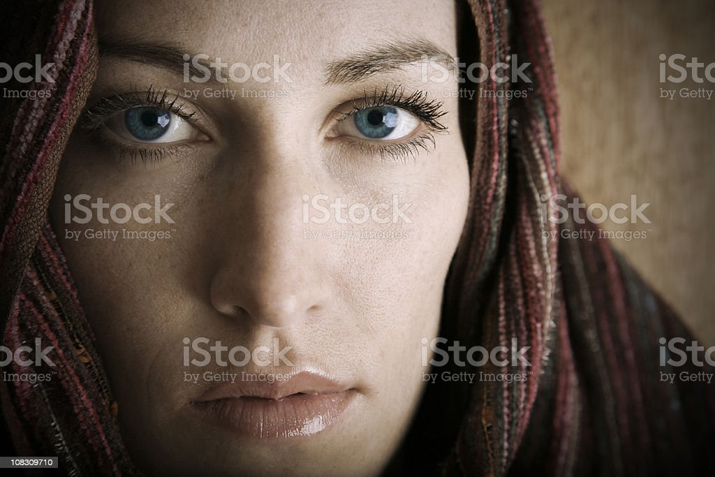Middle Eastern Adult Woman Staring Forward stock photo