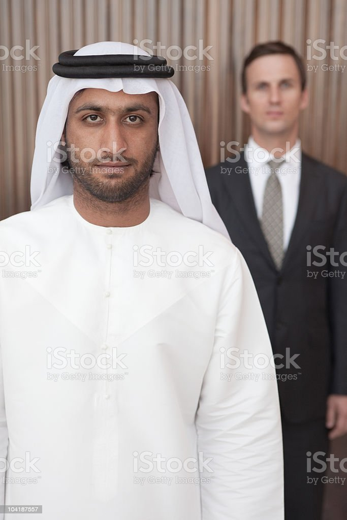 Middle eastern and western businessmen royalty-free stock photo