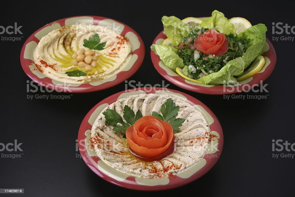 Middle Eastern Appetizers royalty-free stock photo