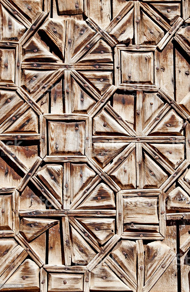 Middle Eastern Architectural wooden background stock photo
