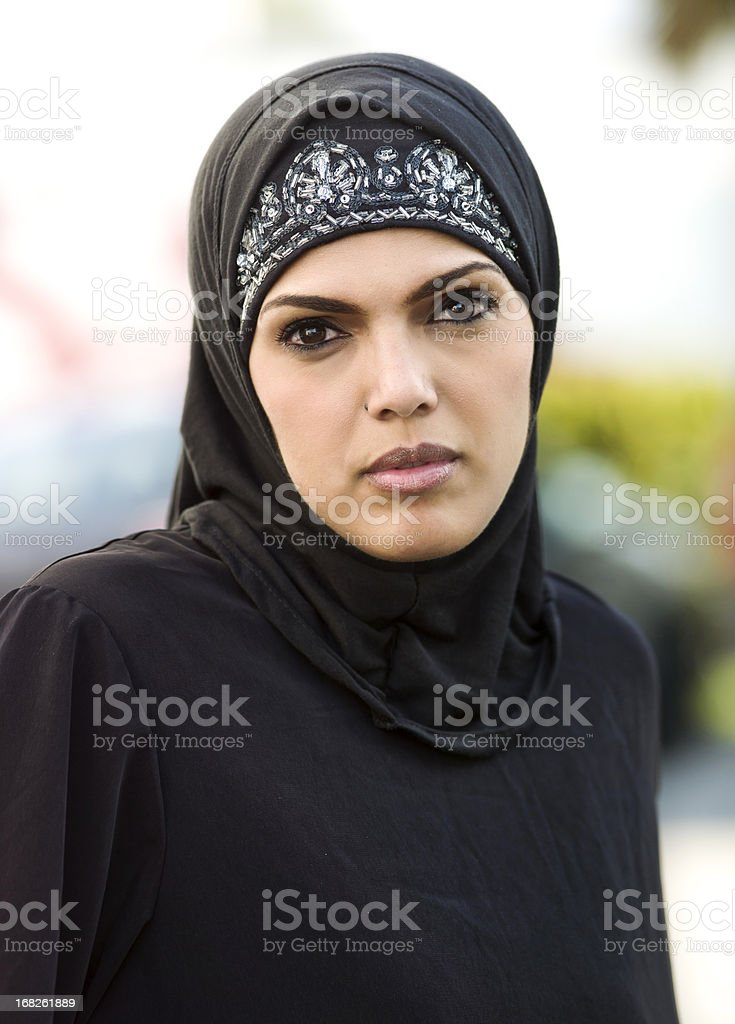 middle eastern beautiful woman stock photo
