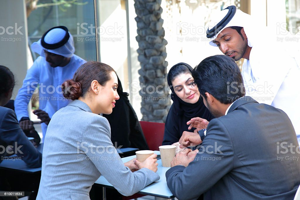 Middle Eastern business people stock photo