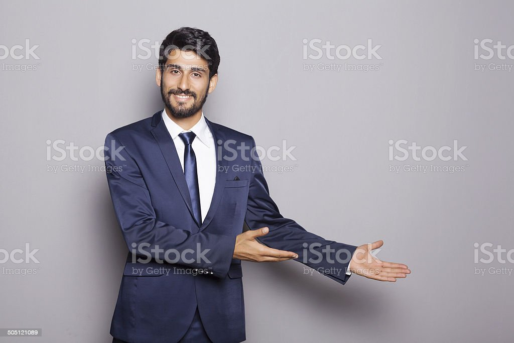 Middle Eastern Businessman Advertising stock photo