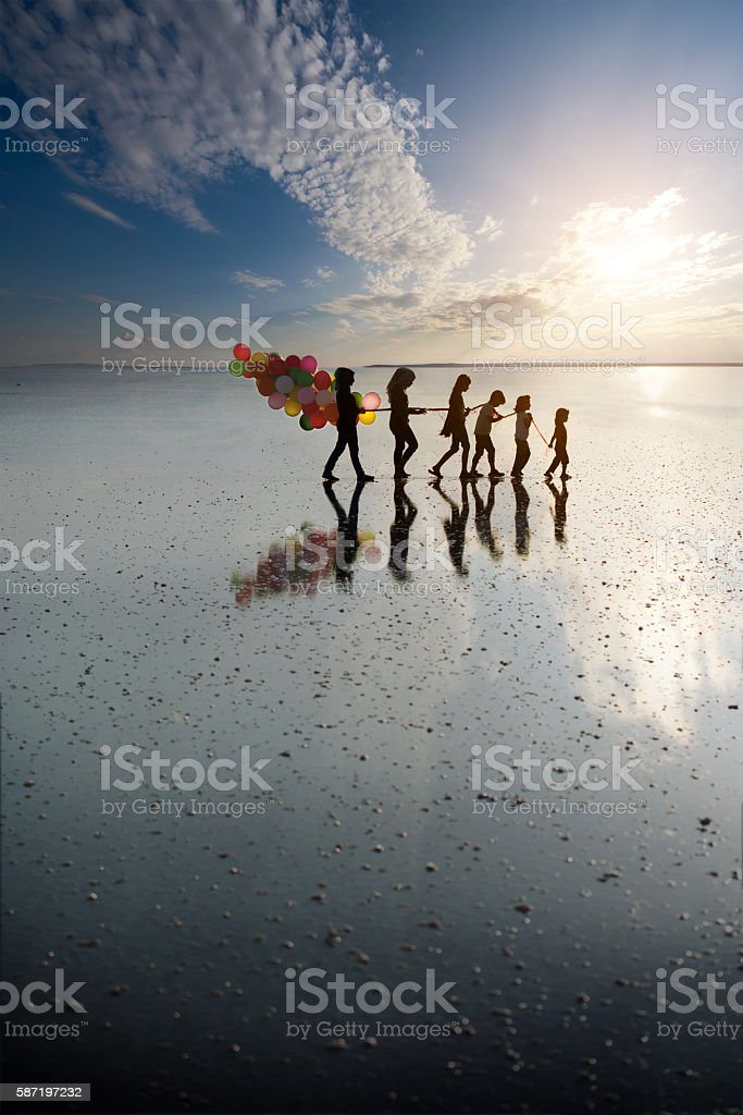 Middle eastern children very happy place without war stock photo