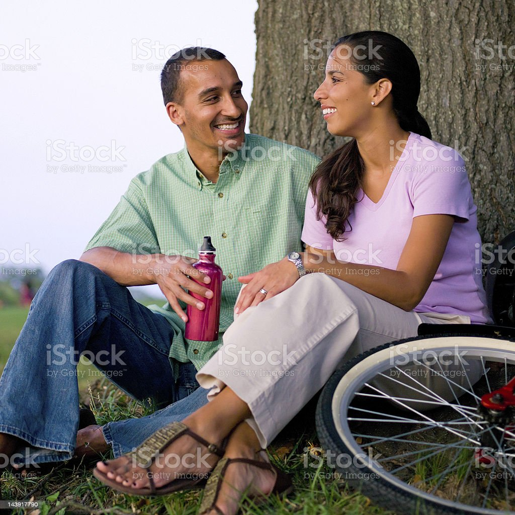 Middle Eastern couple stock photo
