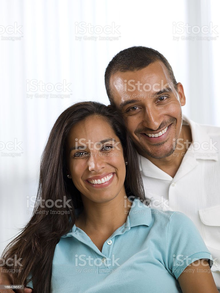 Middle Eastern Couple Portrait royalty-free stock photo