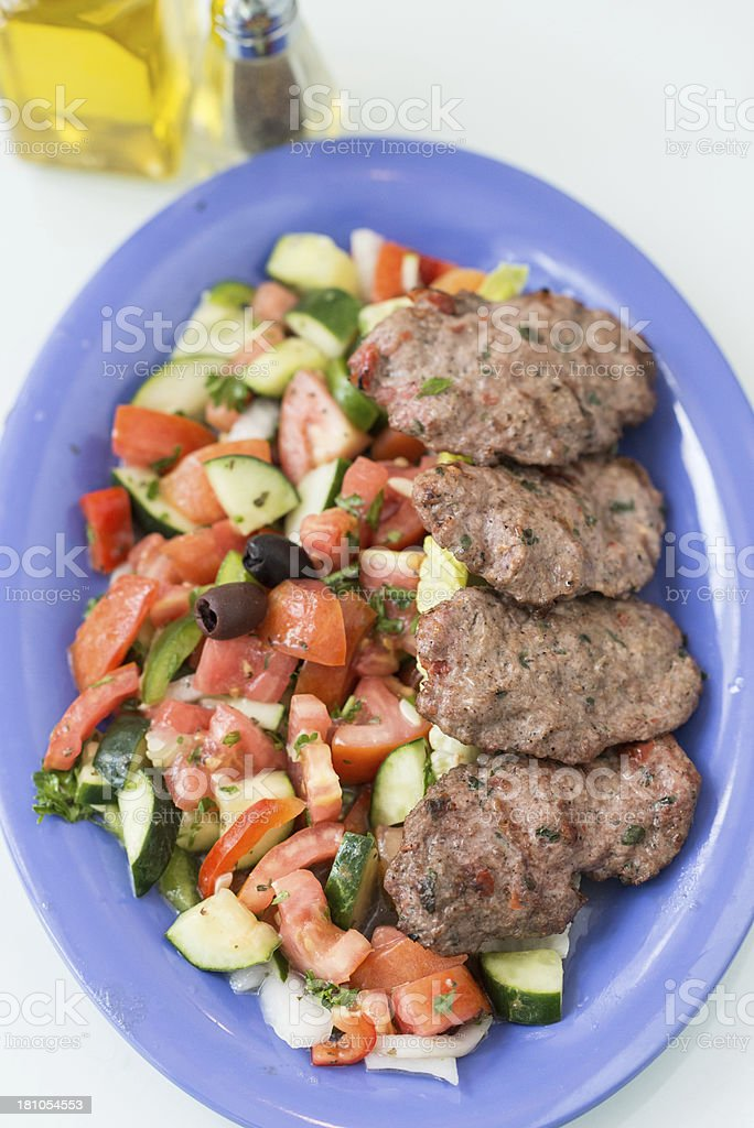 Middle eastern dinner stock photo