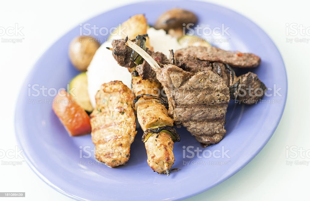 Middle Eastern Dinner royalty-free stock photo