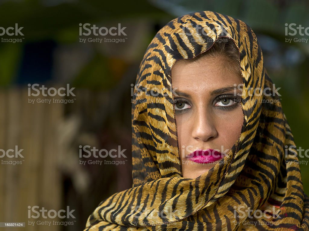 Middle eastern eyes royalty-free stock photo