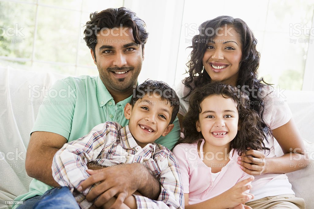 Middle Eastern family stock photo