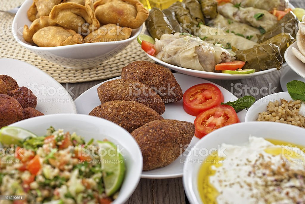 Middle Eastern Food stock photo