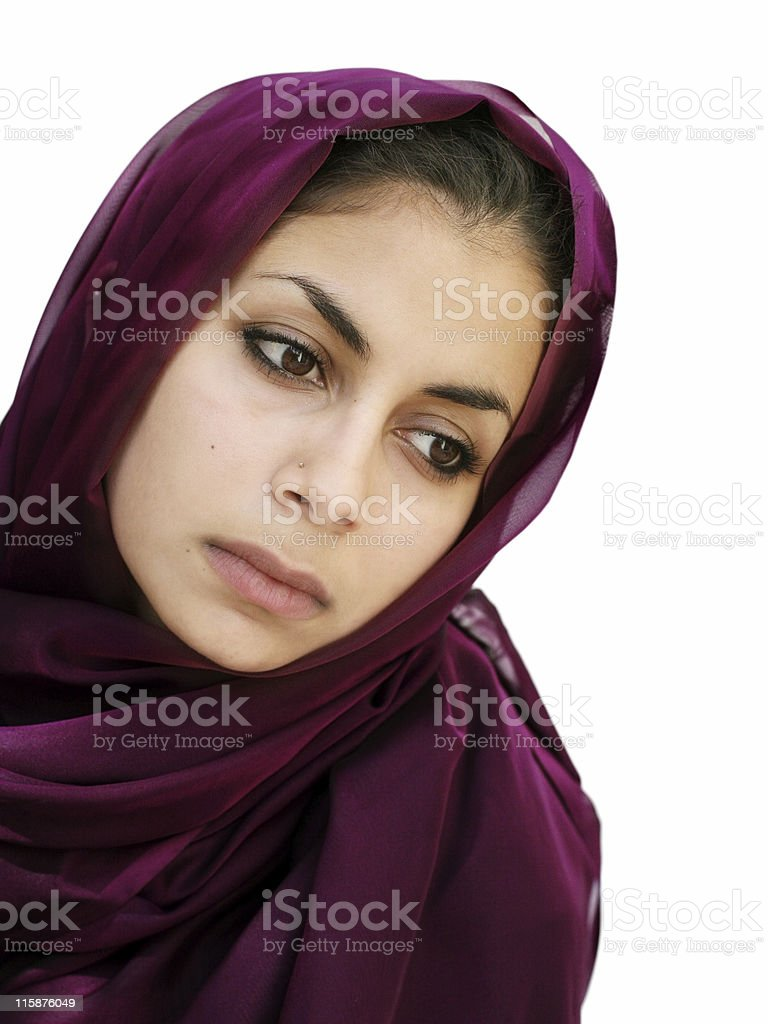Middle eastern girl stock photo