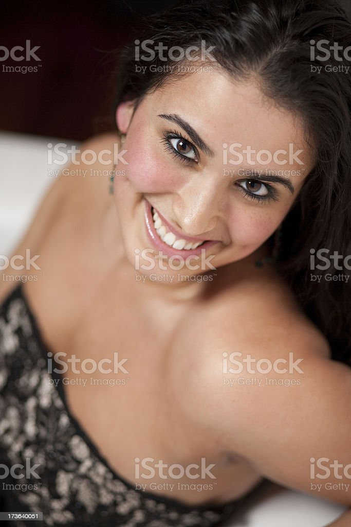 middle eastern girl royalty-free stock photo