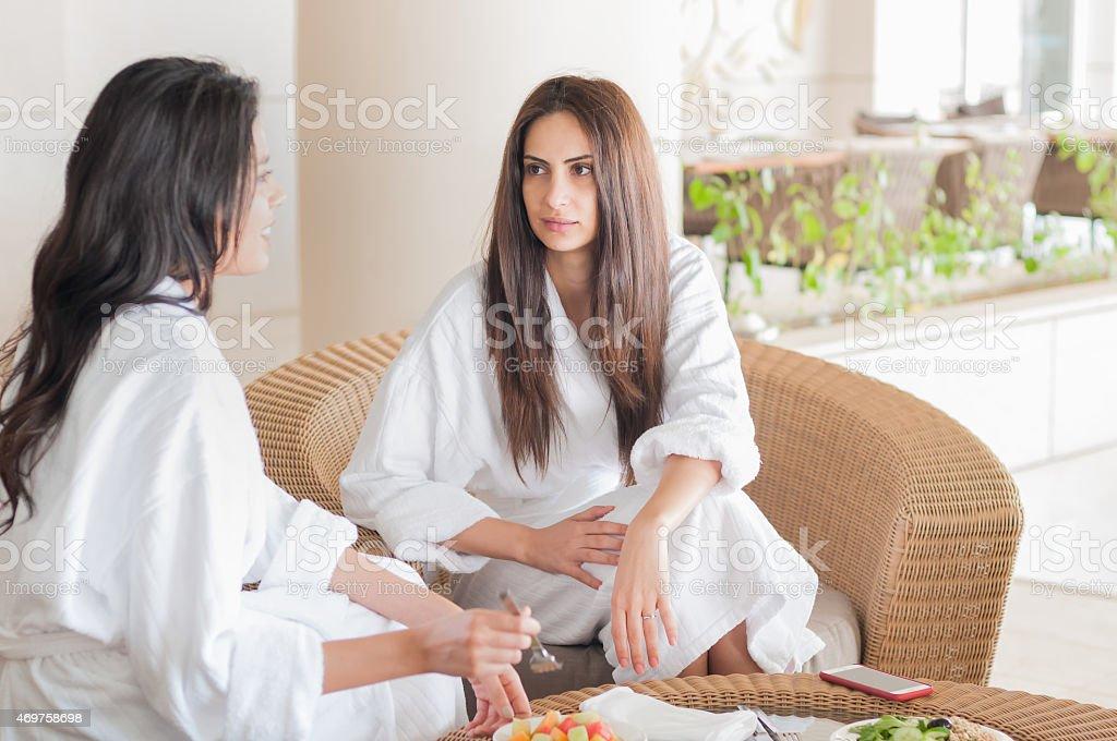 iStockalypse Dubai. Closeup of Arabian and mixed ethnic girlfriends...