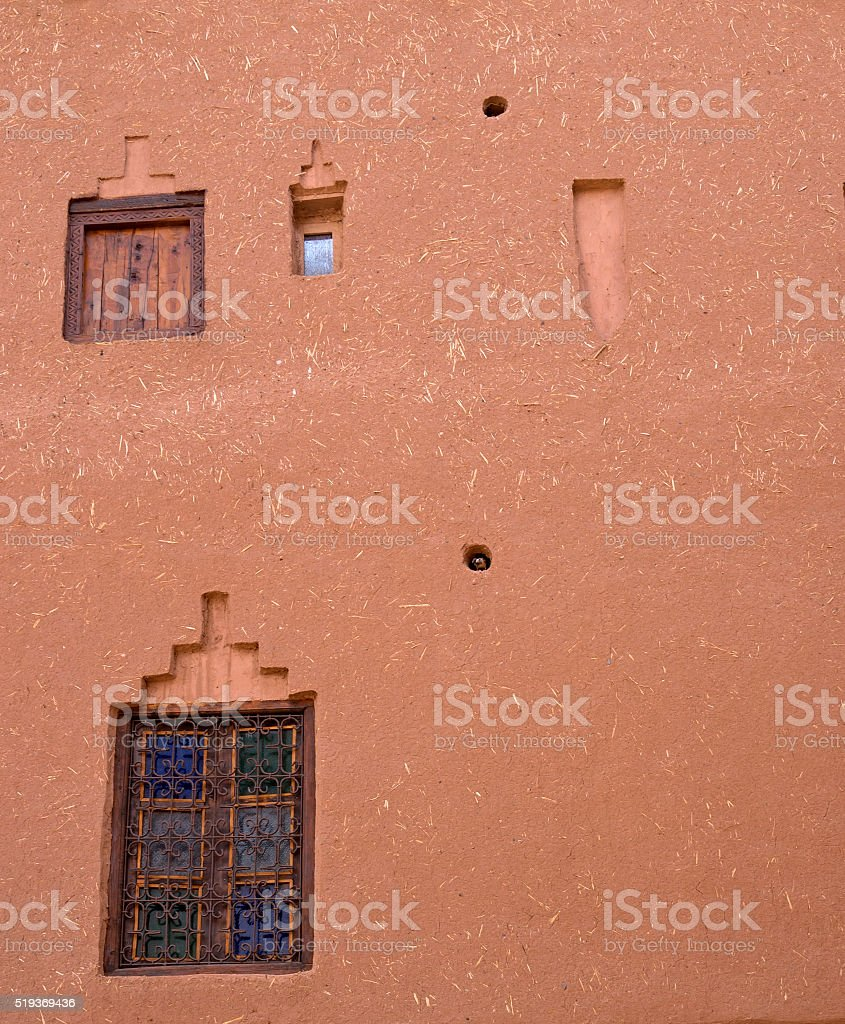 Middle Eastern Mud and Straw Facade stock photo