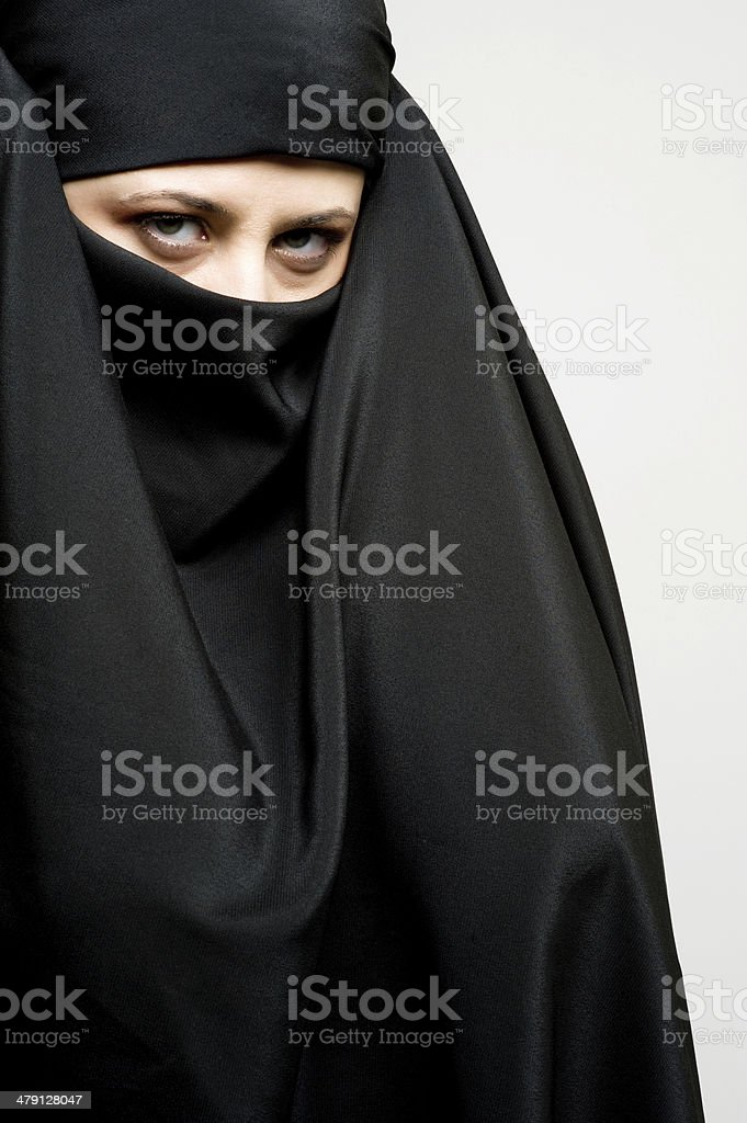 middle eastern Muslim woman royalty-free stock photo