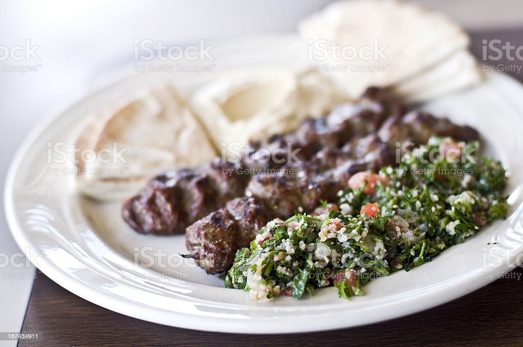 Middle eastern Platter stock photo