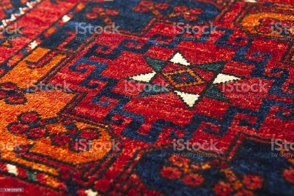 Middle Eastern Rug detail royalty-free stock photo