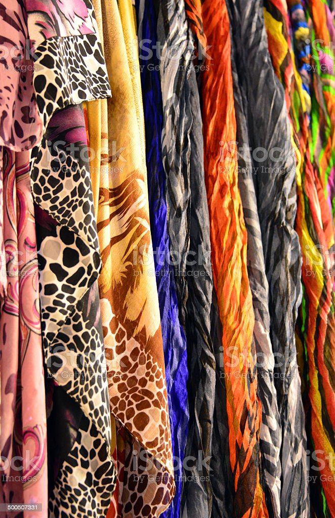 Middle Eastern scarves for sale stock photo