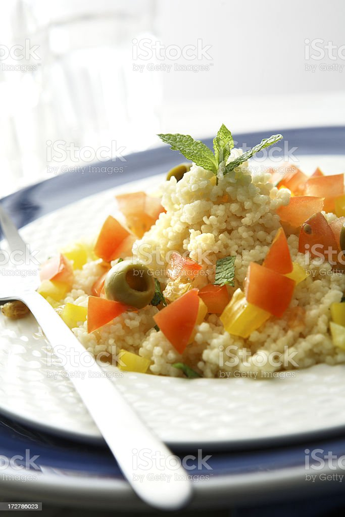 Middle Eastern Stills: Couscous royalty-free stock photo