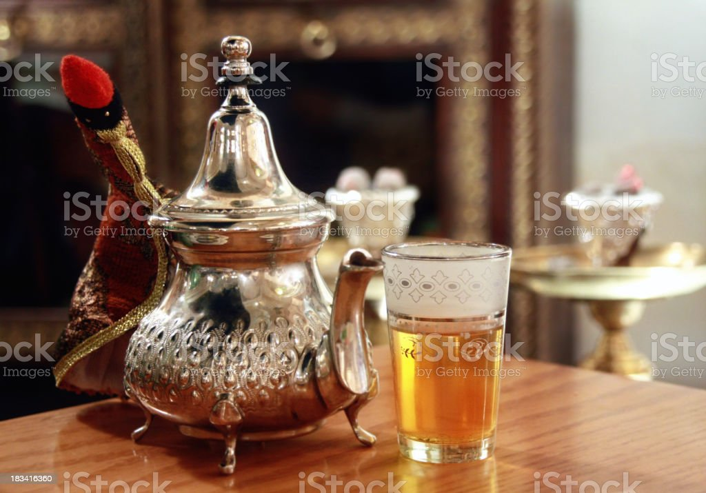 middle eastern teapot stock photo