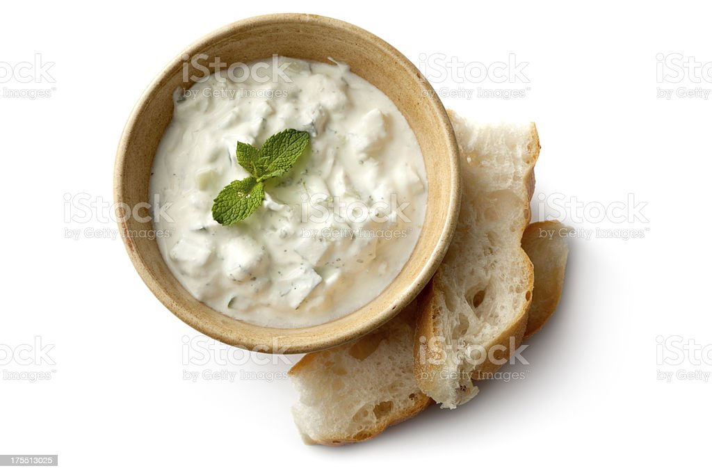 Middle Eastern: Tzatziki and Bread royalty-free stock photo