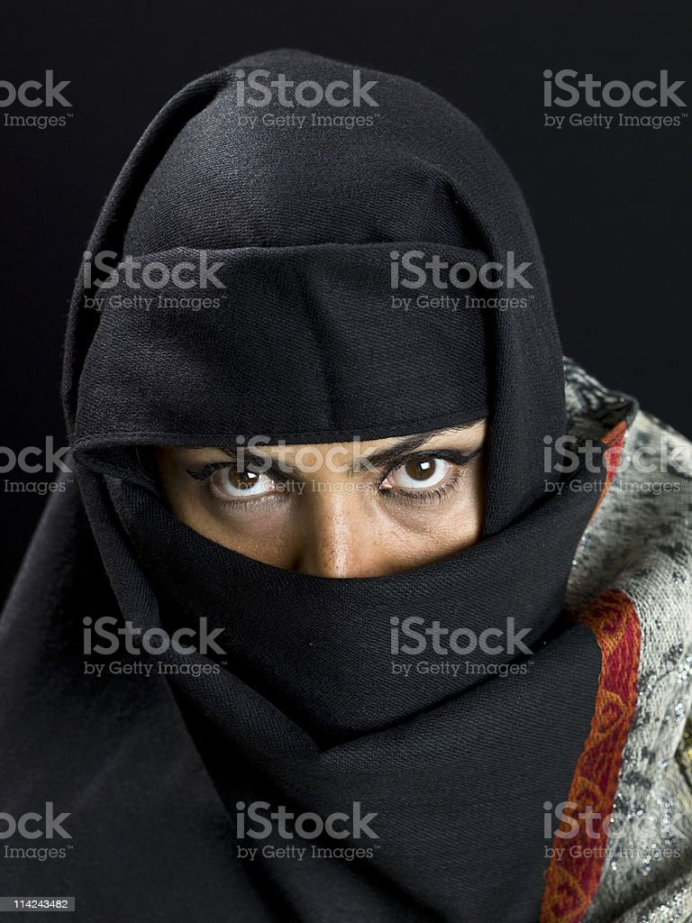 Middle eastern woman at her forties royalty-free stock photo