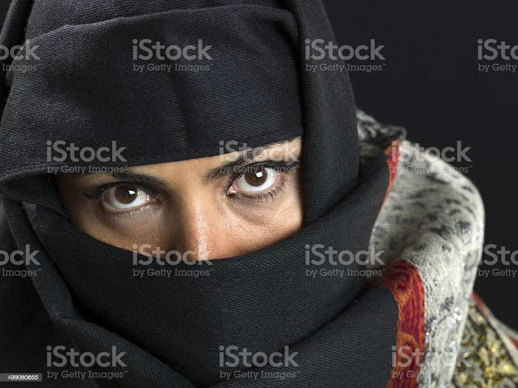 Middle eastern woman at her forties stock photo