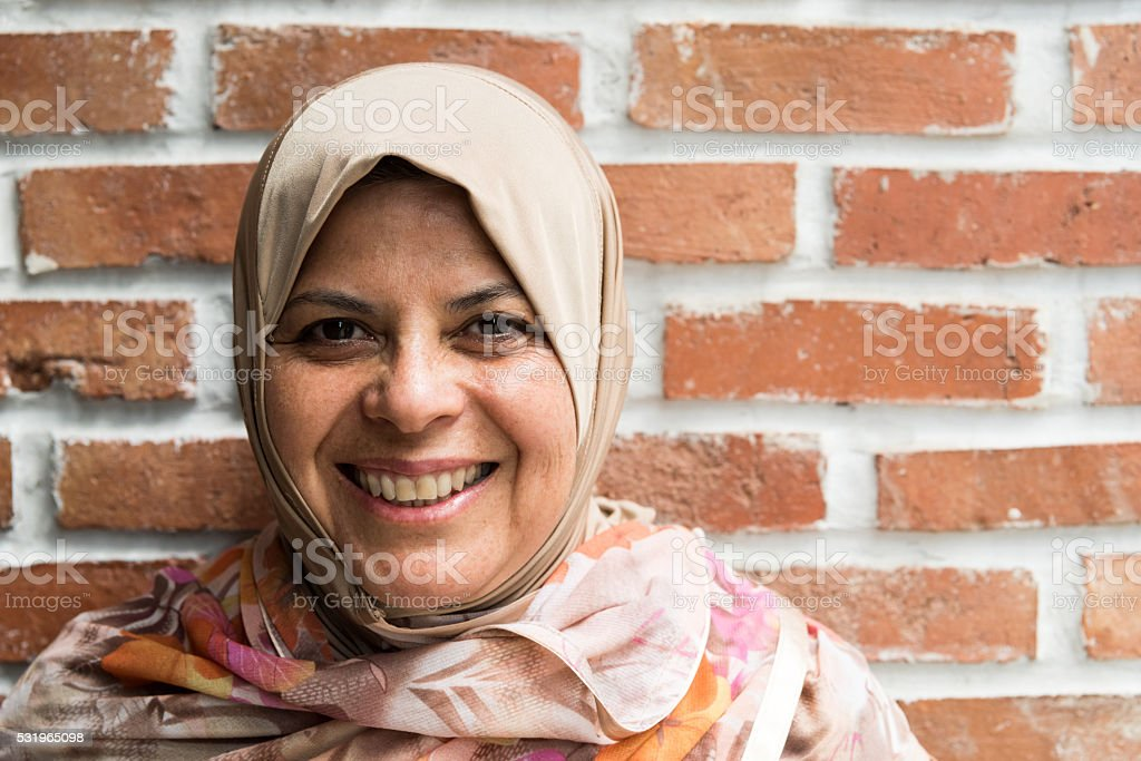 middle eastern woman stock photo