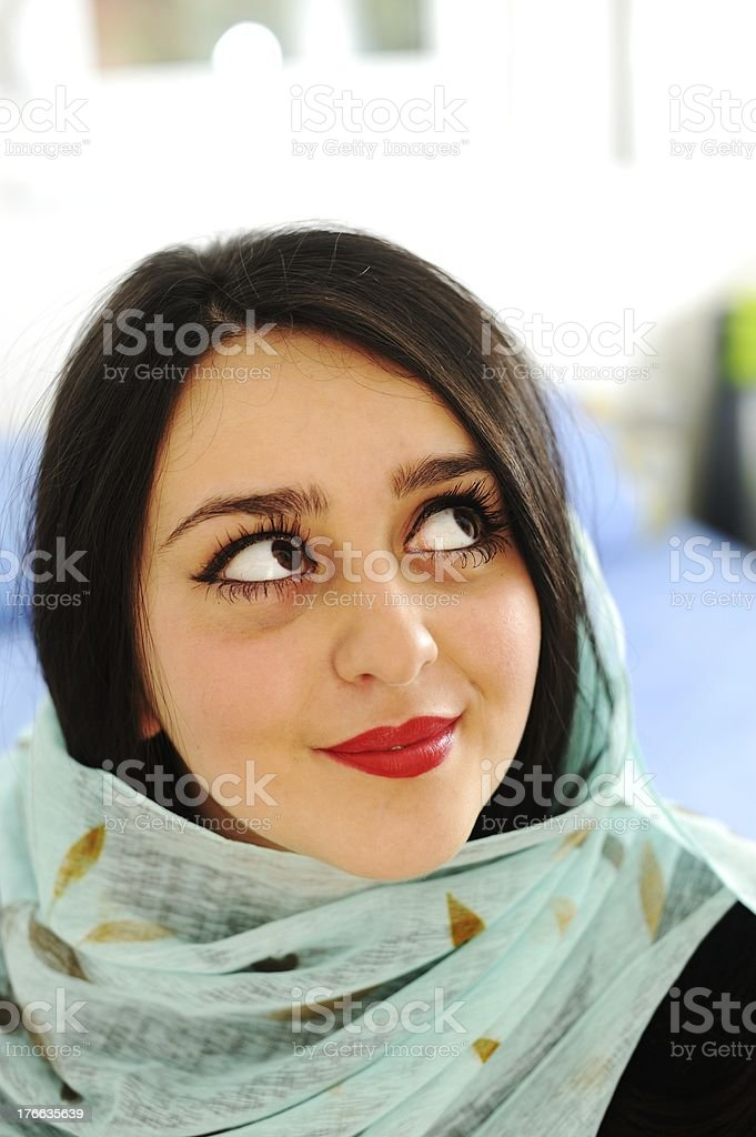 Middle eastern woman portrait royalty-free stock photo