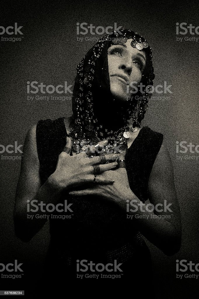 Middle Eastern Woman Praying stock photo