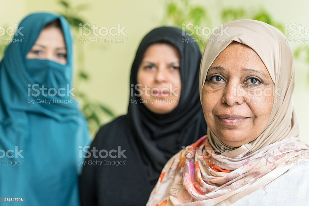 middle eastern women stock photo