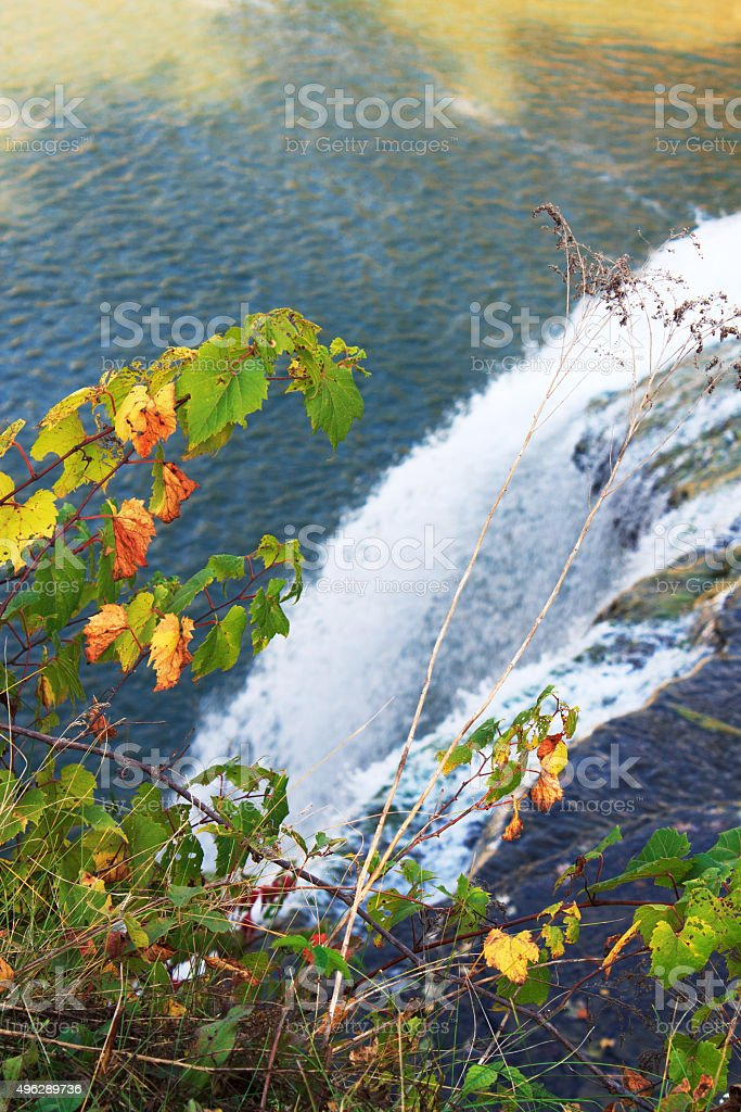 Middle Falls in Letchworth State Park, USA stock photo