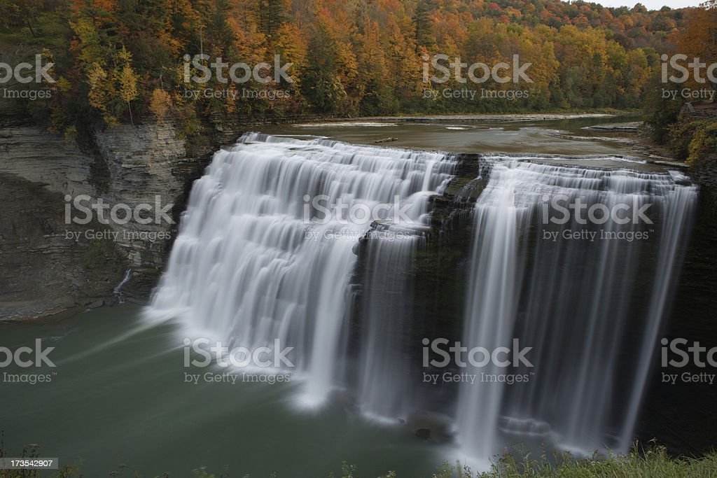 Middle Falls stock photo