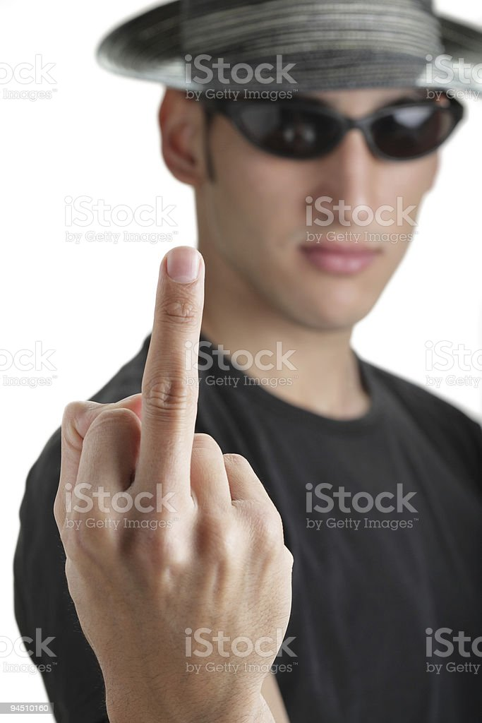 Middle finger royalty-free stock photo